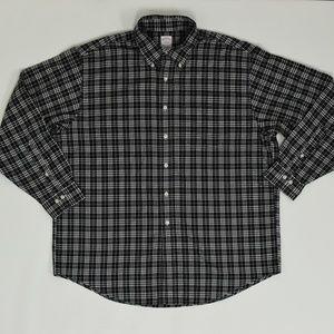 Brooks Brothers Regular XL Black   Button Down Cot